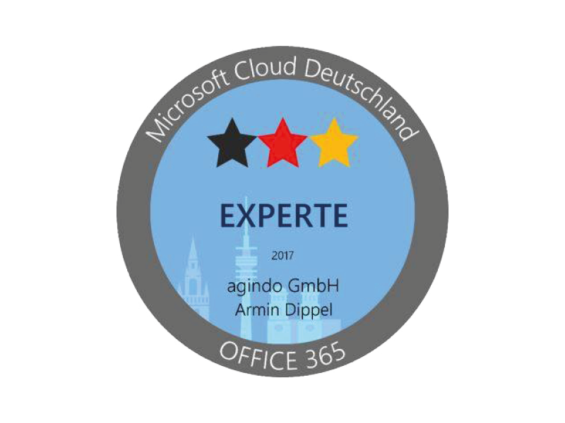 Certified Microsoft Office 365 expert - agindo GmbH